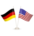 table stand with flags germany and usa vector image vector image