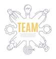 team line art design concept vector image
