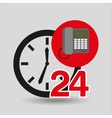 telephone call center 24 hours vector image