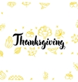 Thanksgiving Golden Greeting Postcard vector image