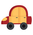 the red and yellow toy car or color vector image vector image