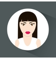Woman cartoon inside circle design vector image