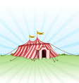circus entertainment tent vector image