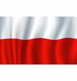 poland 3d flag background national symbol vector image