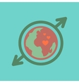 flat icon on stylish background Earth gays symbol vector image