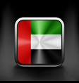 United Arab Emirates flag icon vector image