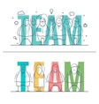 word TEAM concept vector image