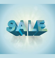 3dblue polygonal sale sign vector image