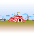 amusement park with circus vector image vector image