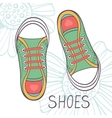 An of fashionable girl trainers vector image vector image