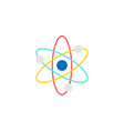atom and molecule flat icon education and school vector image