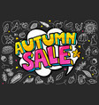 autumn sale message in pop art style vector image