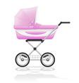 baby perambulator 01 vector image vector image