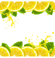 banner with fresh lemons vector image vector image