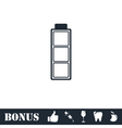 Battery empty icon flat vector image vector image