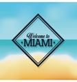 Beach and Sea icon Miami florida design vector image