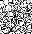 black and white arrows seamless pattern vector image vector image