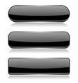 black glass buttons on white background vector image vector image