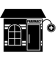 Black icon of pharmacy vector image vector image