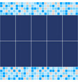 blue and beige ceramic tile mosaic in swimming vector image vector image