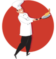 Chef cooking vector image vector image