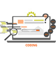 coding vector image vector image