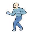 comic cartoon victorian boxer vector image
