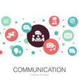 communication trendy circle template with simple vector image vector image