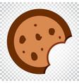 cookie flat icon chip biscuit dessert food vector image vector image