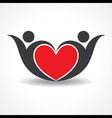 creative couple icon or happy valentine day design vector image