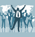 dancing business people vector image