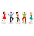 dancing people isolated on white happy men and vector image