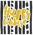 decorative greeting card with handdrawn lettering vector image