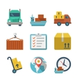 Delivery person freight logistic business industry vector image vector image