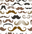 Different retro style moustache seamless pattern vector image vector image