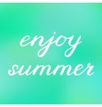 Enjoy summer Hand made brush lettering vector image vector image