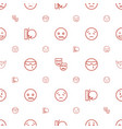 facial icons pattern seamless white background vector image vector image