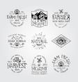 farm fresh and natural food vector image vector image