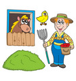 farmer collection vector image