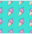 fashionable seamless pattern with sweet food vector image vector image