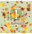 First September Autumn Background vector image vector image