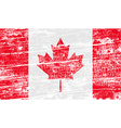 Flag of Canada with old texture vector image vector image