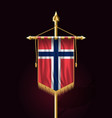 flag of norway festive vertical banner wall vector image vector image