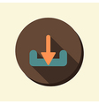 flat circle web icon download vector image