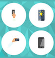 flat icon smartphone set of screen telephone vector image vector image