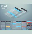 flat ui mobile menu design concept vector image vector image