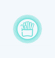 fried potatoes icon sign symbol vector image