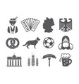 germany icons set vector image vector image