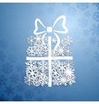 Gift box of snowflakes vector image vector image