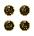 Golden best labels vector image